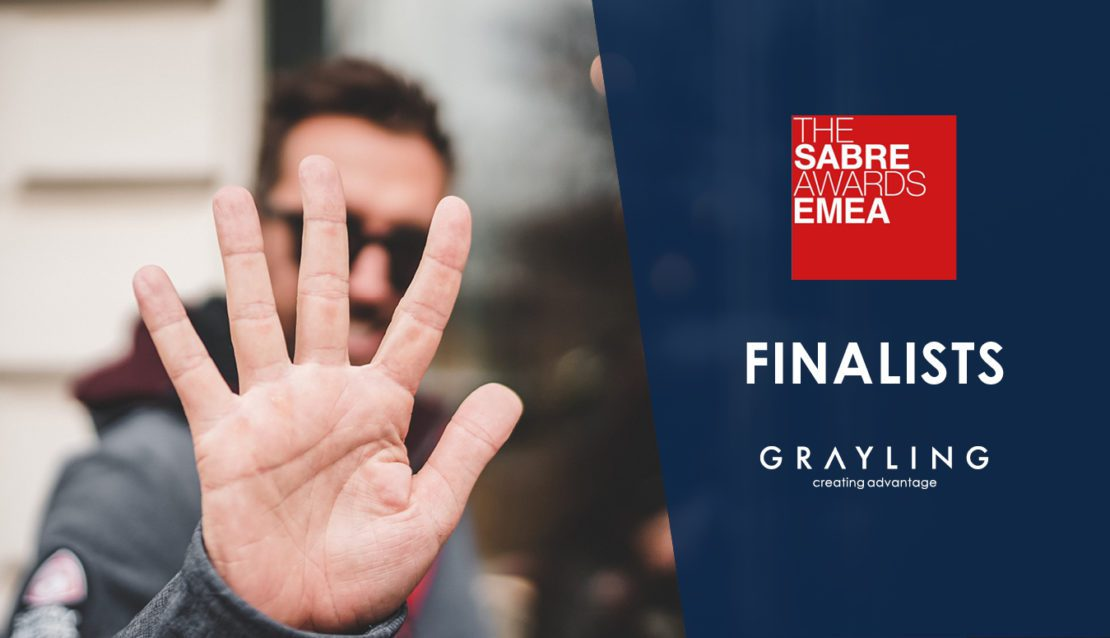 Grayling 5x finalist for the SABRE Awards EMEA 2020